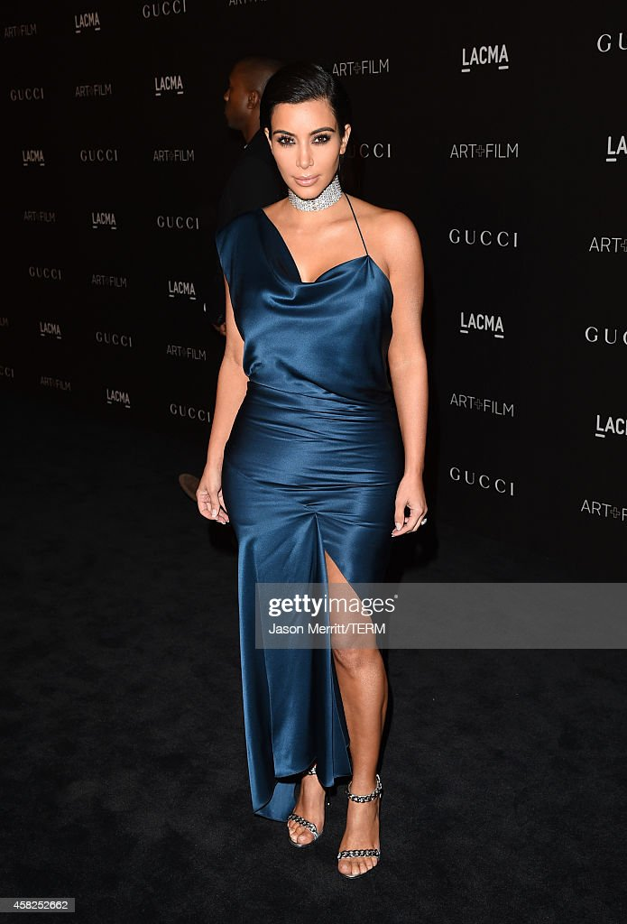 Kim Kardashian West attends the 2014 LACMA Art Film Gala honoring Barbara Kruger and Quentin Tarantino presented by Gucci at LACMA on November 1 2014...