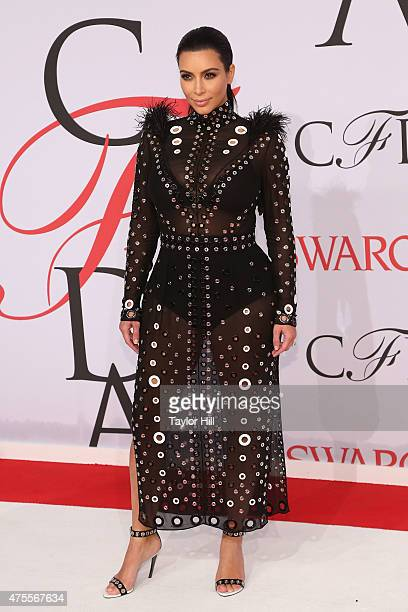 Kim Kardashian West attends the 2015 CFDA Awards at Alice Tully Hall at Lincoln Center on June 1 2015 in New York City