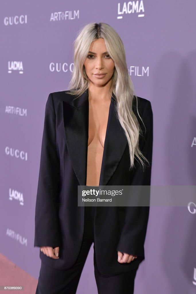 Kim Kardashian West attends the 2017 LACMA Art + Film Gala Honoring Mark Bradford and George Lucas presented by Gucci at LACMA on November 4, 2017 in Los Angeles, California.