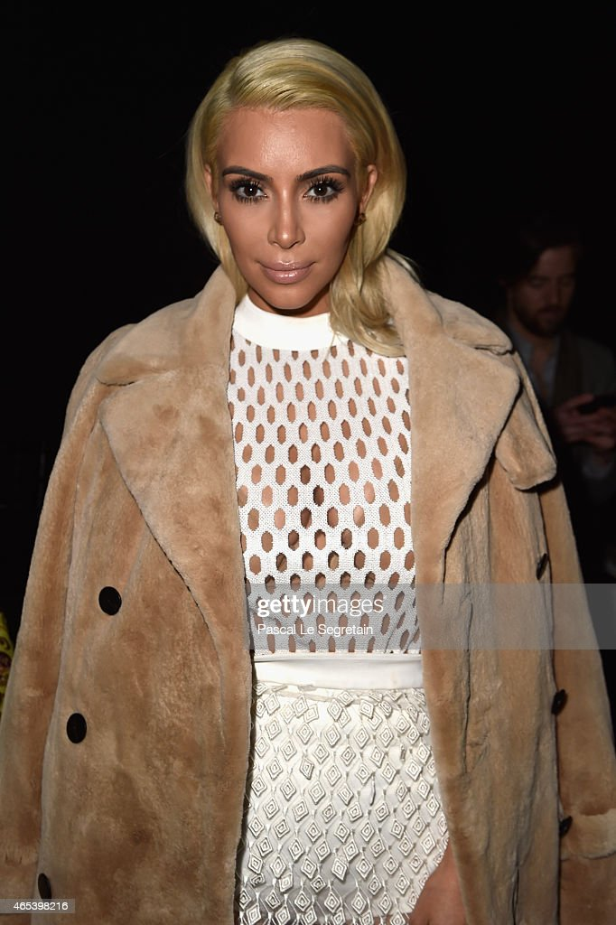 <a gi-track='captionPersonalityLinkClicked' href=/galleries/search?phrase=Kim+Kardashian&family=editorial&specificpeople=753387 ng-click='$event.stopPropagation()'>Kim Kardashian</a> West attends the Balenciaga show as part of the Paris Fashion Week Womenswear Fall/Winter 2015/2016 on March 6, 2015 in Paris, France.