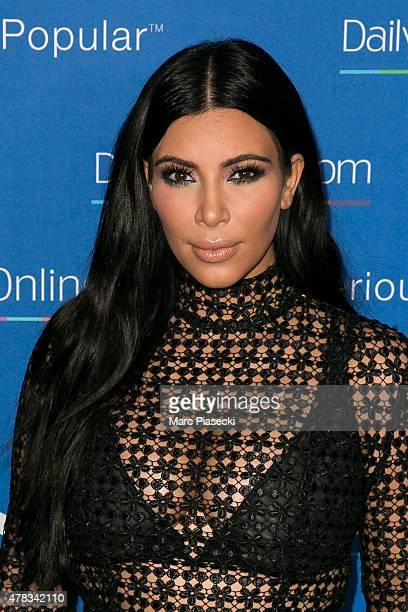Kim Kardashian West attends the 'DailyMailcom Seriously Popular Yacht Party' on June 24 2015 in Cannes France