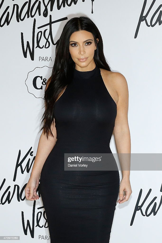 <a gi-track='captionPersonalityLinkClicked' href=/galleries/search?phrase=Kim+Kardashian&family=editorial&specificpeople=753387 ng-click='$event.stopPropagation()'>Kim Kardashian</a> West attends the <a gi-track='captionPersonalityLinkClicked' href=/galleries/search?phrase=Kim+Kardashian&family=editorial&specificpeople=753387 ng-click='$event.stopPropagation()'>Kim Kardashian</a> West for C&A press conference at Shopping Iguatemi on May 11, 2015 in Sao Paulo, Brazil.