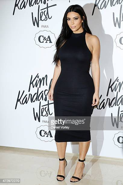 Kim Kardashian West attends the Kim Kardashian West for CA press conference at Shopping Iguatemi on May 11 2015 in Sao Paulo Brazil