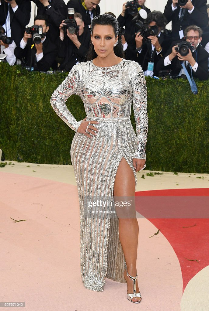 <a gi-track='captionPersonalityLinkClicked' href=/galleries/search?phrase=Kim+Kardashian&family=editorial&specificpeople=753387 ng-click='$event.stopPropagation()'>Kim Kardashian</a> West attends the 'Manus x Machina: Fashion In An Age Of Technology' Costume Institute Gala at Metropolitan Museum of Art on May 2, 2016 in New York City.