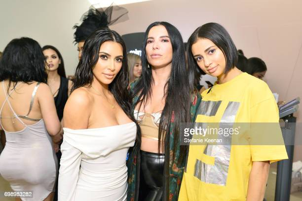 Kim Kardashian West Aureta Thomollari and Kristen Noel Crawley celebrate The Launch Of KKW Beauty on June 20 2017 in Los Angeles California