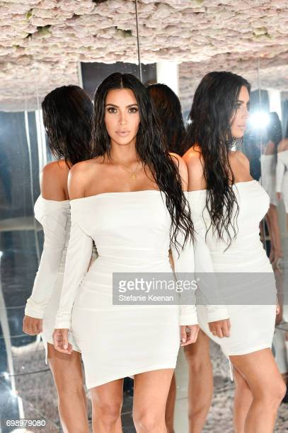 Kim Kardashian West celebrates The Launch Of KKW Beauty on June 20 2017 in Los Angeles California