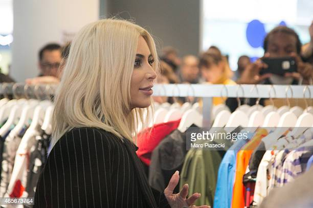 Kim Kardashian West is seen at the 'Colette' store on March 9 2015 in Paris France