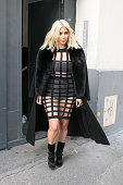 Kim Kardashian West is seen leaving the 'Studio Zero' photo shooting on March 8 2015 in Paris France