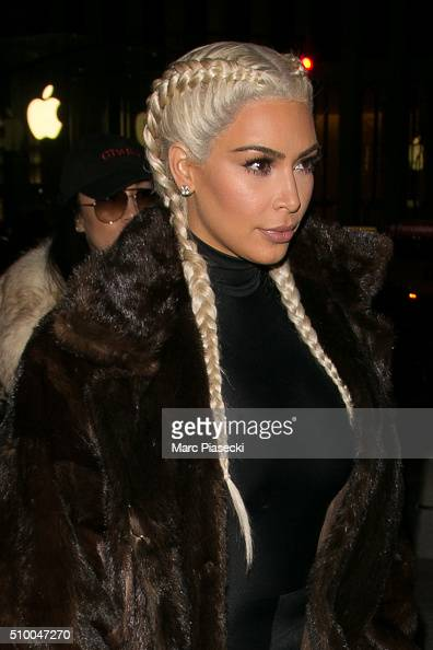 Kim Kardashian West is seen on February 13 2016 in New York City