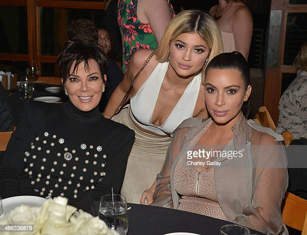 Kim Kardashian West Kylie Jenner Khloe Kardashian and Kris Jenner Kylie Jenner and Kim Kardashian West host a dinner and preview of their new apps...