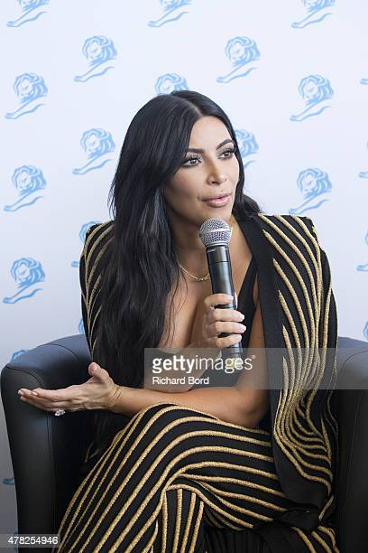 Kim Kardashian West participates in the Sudler forum during the Cannes Lions International Festival of Creativity on June 24 2015 in Cannes France