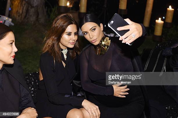 Kim Kardashian West takes a selfie with Christine Centenera as they attend Olivier Rousteing Beats Celebrate In Los Angeles at Private Residence on...