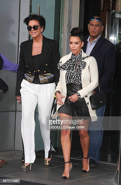 Kim Kardashian with her mother Kris Jenner are seen on April 24 2012 in New York City