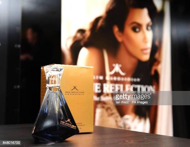 Kim Kardashian's new perfume exclusive to Debenhams called True Reflection in London