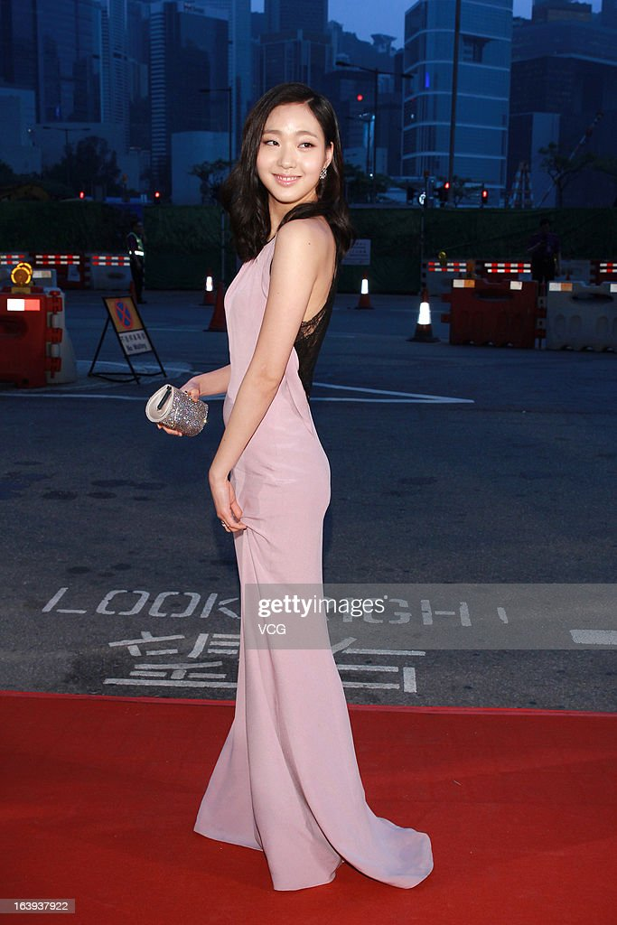 Kim Ko Eun arrives at the red carpet of the 7th Asian Film Awards on March 18, 2013 in Hong Kong, China.