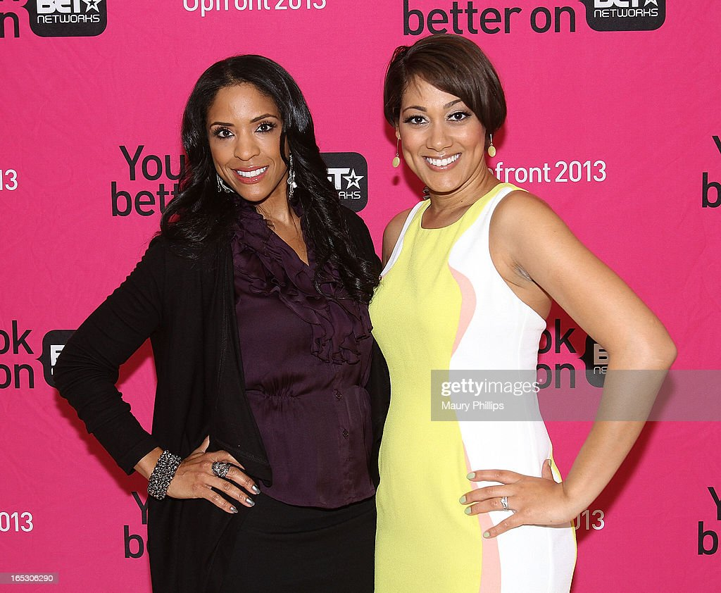 Kim Lewis and Cynthia Kaye McWilliams attend BET Networks 2013 Los Angeles Upfront at Montage Beverly Hills on April 2, 2013 in Beverly Hills, California.