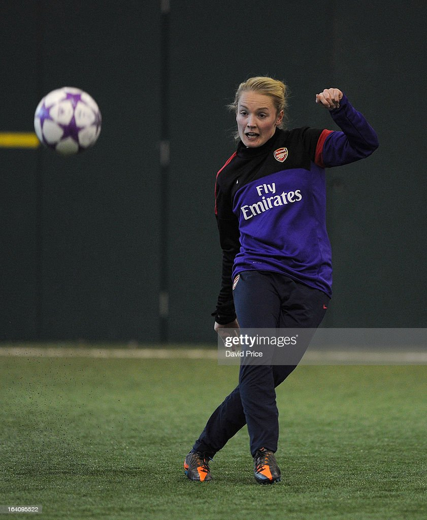 Kim Little of Arsenal Ladies during an Arsenal Ladies Training Session at Arsenal Training Ground on March 19, 2013 in St. Albans, Hertfordshire, England.