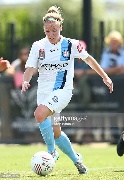 Kim Little of City controls the ball during the round six WLeague match between Melbourne City and the Brisbane Roar at CBSmith Reserve on November...