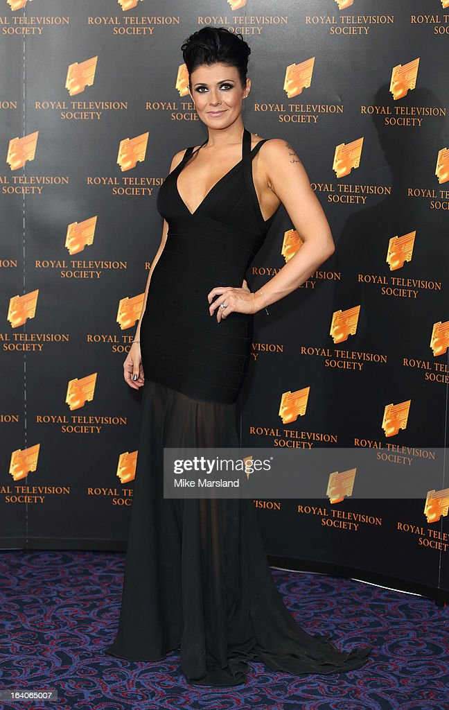 Kim Marsh attends the RTS Programme Awards at Grosvenor House, on March 19, 2013 in London, England.