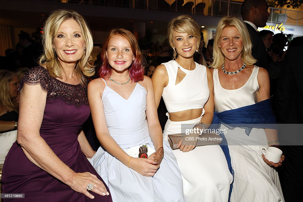 Kim Matula (second to right) and Alley Mills (far right) with their guests, attend The 41st Annual Daytime Emmy® Awards in Los Angeles on Sunday, June 22.