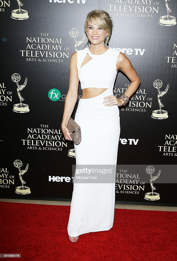 Kim Matula arrives at the 41st Annual Daytime Emmy Awards held at The Beverly Hilton Hotel on June 22, 2014 in Beverly Hills, California.