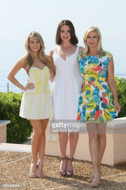 Kim Matula Ashleigh Brewer and Katherine Kelly Lang attend 'The Bold The Beautiful' Photocall at the Monte Carlo Bay Hotel on June 8 2014 in...