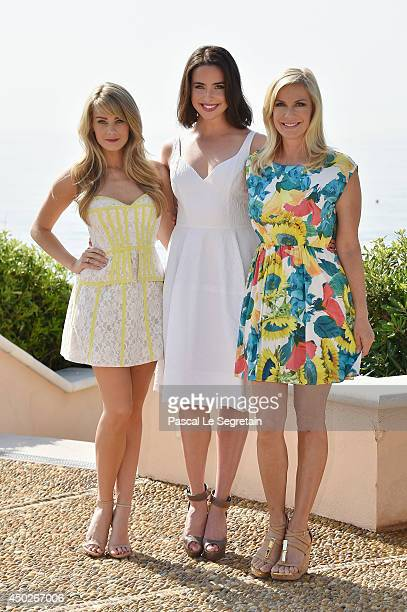Kim Matula Ashleigh Brewer and Katherine Kelly Lang pose during a photocall for the TV Show ' The Bold and the Beautiful' as part of the 54th...