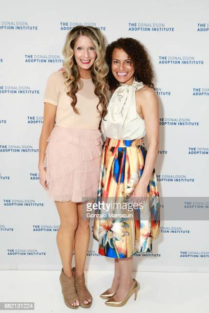 Kim Mccall and April Dinwoodie attend the Donaldson Adoption Institute's 2017 Taste of Spring at Metropolitan Pavilion on May 11 2017 in New York City