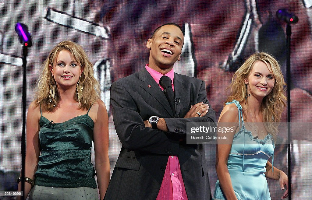 Kim Medcalf, Reggie Yates and Debra Stephenson are seen performing at the ninth eviction show for 'Comic Relief Does Fame Academy' at Lambeth College on March 9, 2005 in London. The new series sees 13 celebrities go head to head in the ultimate celebrity singing competition, with the grand final announcing the winner on March 11, Red Nose Day 2005.