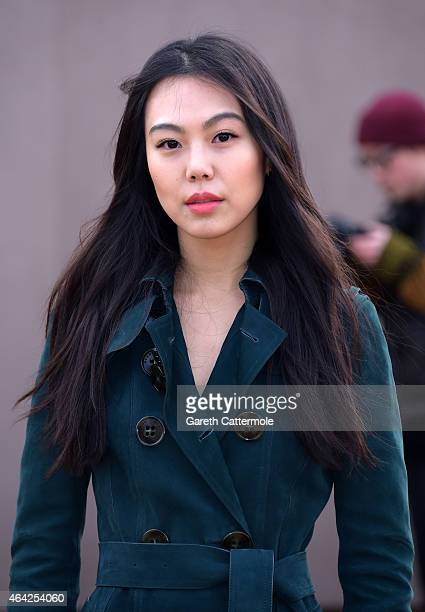 Kim Min Hee attends the Burberry Prorsum AW 2015 arrivals during London Fashion Week at Kensington Gardens on February 23 2015 in London England
