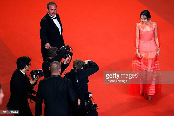 Kim MinHee attends 'The Handmaiden ' premiere during the 69th annual Cannes Film Festival at the Palais des Festivals on May 14 2016 in Cannes France