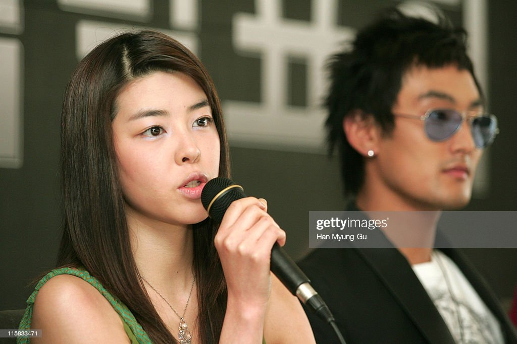 Kim Min-Sun and Kangta during KBS Drama 'Love Holic' - Press Conference - April 21, 2005 at Seoul Press Center in Seoul, Seoul, South Korea.