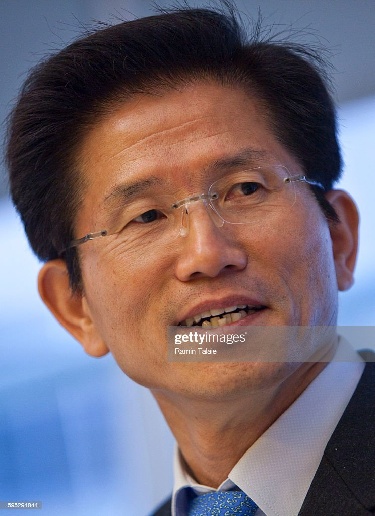 Kim MoonSoo Governor of Gyeonggi Province South Korea and a potential Korean presidential candidate speaks during an interview in New York on...
