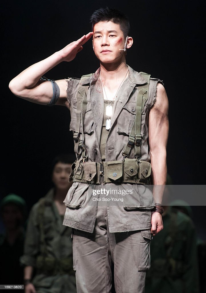 Kim Moo-Yul performs during the musical 'The Promise' press call at the National Theater of Korea Main Hall 'Hae' on January 8, 2013 in Seoul, South Korea.