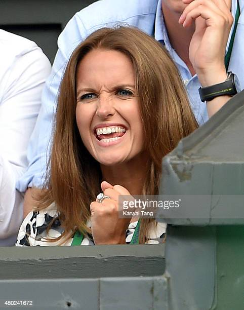 Kim Murray attends day eleven of the Wimbledon Tennis Championships at Wimbledon on July 10 2015 in London England
