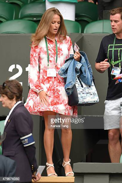 Kim Murray attends day seven of the Wimbledon Tennis Championships at Wimbledon on July 6 2015 in London England