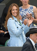 Kim Murray attends day six of the Wimbledon Tennis Championships at Wimbledon on July 02 2016 in London England