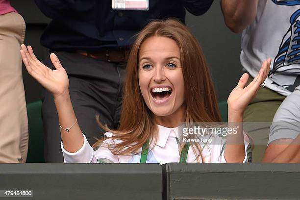 Kim Murray attends day six of the Wimbledon Tennis Championships at Wimbledon on July 4 2015 in London England