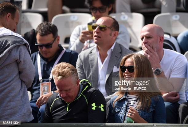 Kim Murray watches her husband Andy during his round three Men's singles match against Nick Kyrgios on day seven of the French Open at Roland Garros...