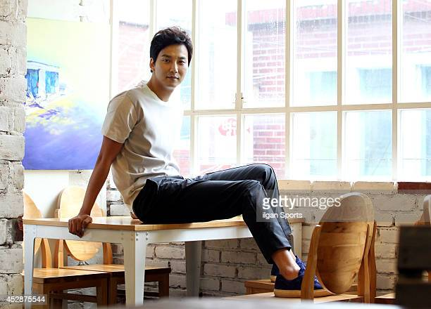 Kim NamGil poses for photographs on July 24 2014 in Seoul South Korea