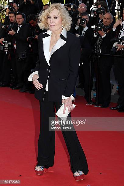 Kim Novak attends the 'La Venus A La Fourrure' premiere during The 66th Annual Cannes Film Festival at Theatre Lumiere on May 25 2013 in Cannes France