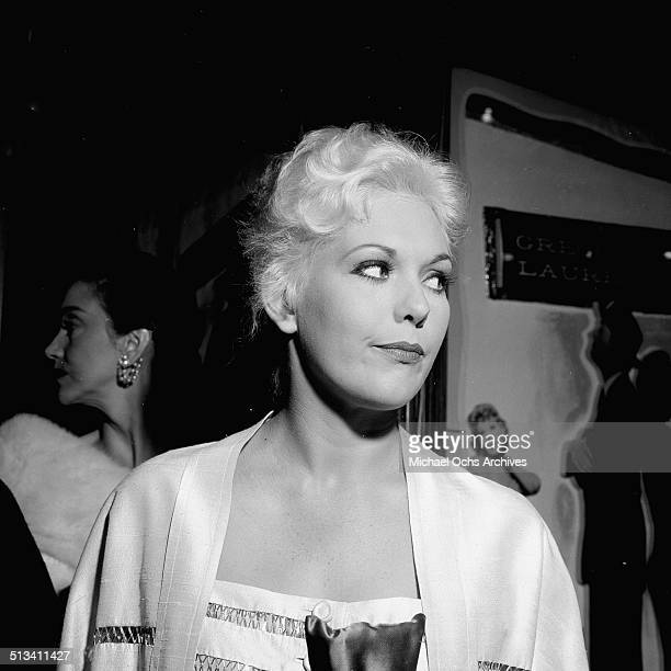 Kim Novak attends the movie premiere for 'Designing Women' in Los AngelesCA