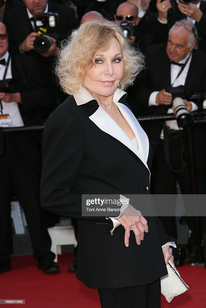 Kim Novak attends the Premiere of 'La Venus A La Fourrure' at The 66th Annual Cannes Film Festival on May 25, 2013 in Cannes, France.