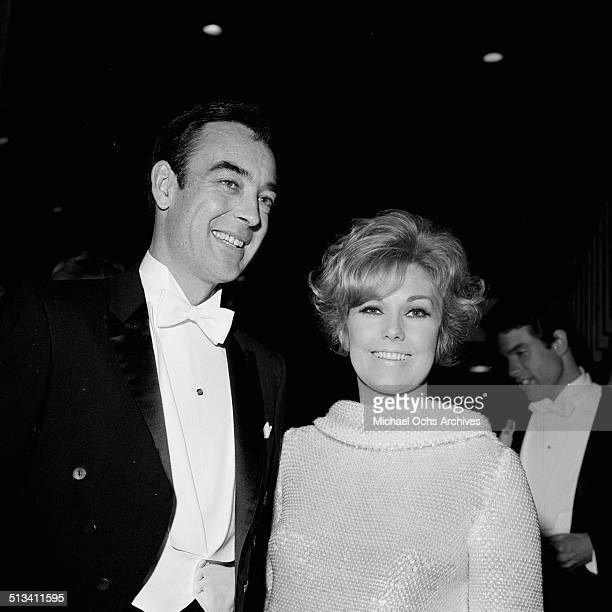 Kim Novak with husband Richard Johnson attends an event in Los AngelesCA