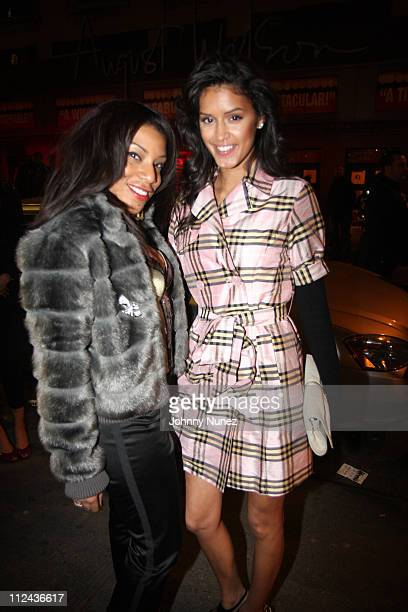 Kim of 77 Films and Jaslene Gonzalez attends Snoop Dogg's 'Ego Trippin' Album Release Party Inside on March 10 2008 in New York City NY