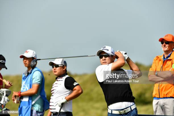 T Kim of Korea during a practice round prior to the 146th Open Championship at Royal Birkdale on July 18 2017 in Southport England