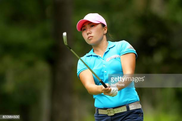 IK Kim of Korea tees off on the 6th tee during the third round of the Marathon LPGA Classic golf tournament at Highland Meadows Golf Club in Sylvania...