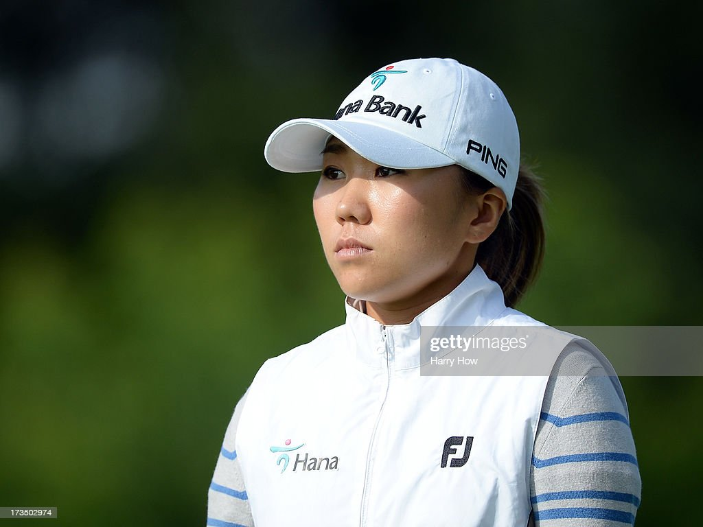 I.K. Kim of South Korea leaves the third tee during round one of the Manulife Financial LPGA Classic at the Grey Silo Golf Course on July 11, 2013 in Waterloo, Canada.