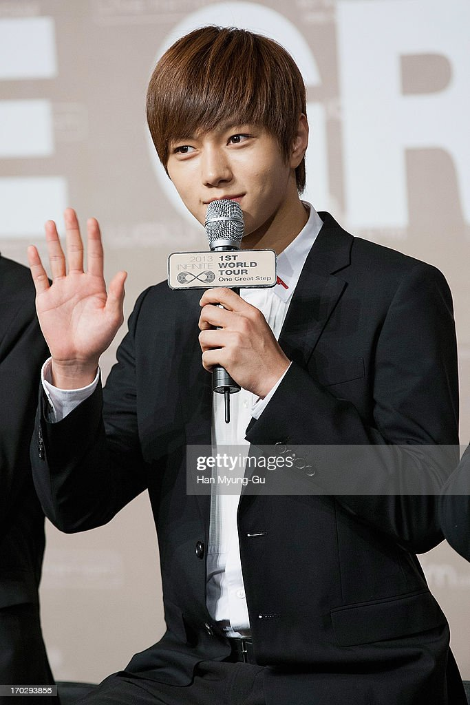 L. Kim of South Korean boy band Infinite during the 2013 Infinite 1st World Tour 'One Great Step' Press Conference on June 10, 2013 in Seoul, South Korea.