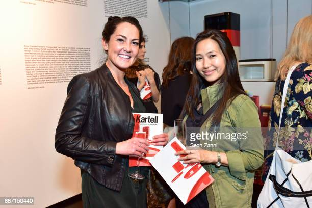 Kim Racciato and Suzanne Chin attend Kartell Tribute to Componibili 50th Anniversary at Kartell Flagship Store New York on May 22 2017 in New York...